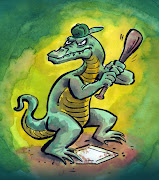 Lizard with a baseball bat. Posted by Webster Colcord