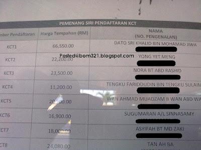 No Plat Kenderaan Dato' K dan Dato' Siti Nurhaliza