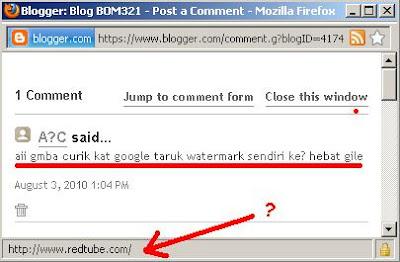 Admin RedTube Komen Di Blog Aku !