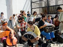 ensayo con la orquesta Sudamericana y Nora Sarmoria Noche de linternas .