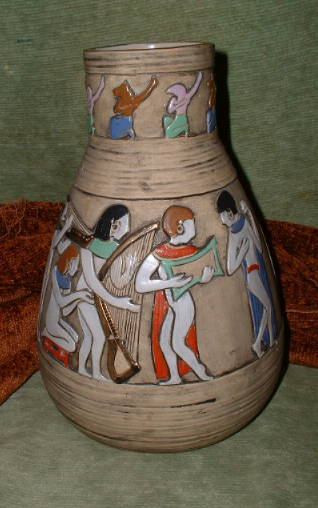 Pottery designs egyptian italian ceramic and pottery for Clay pottery designs