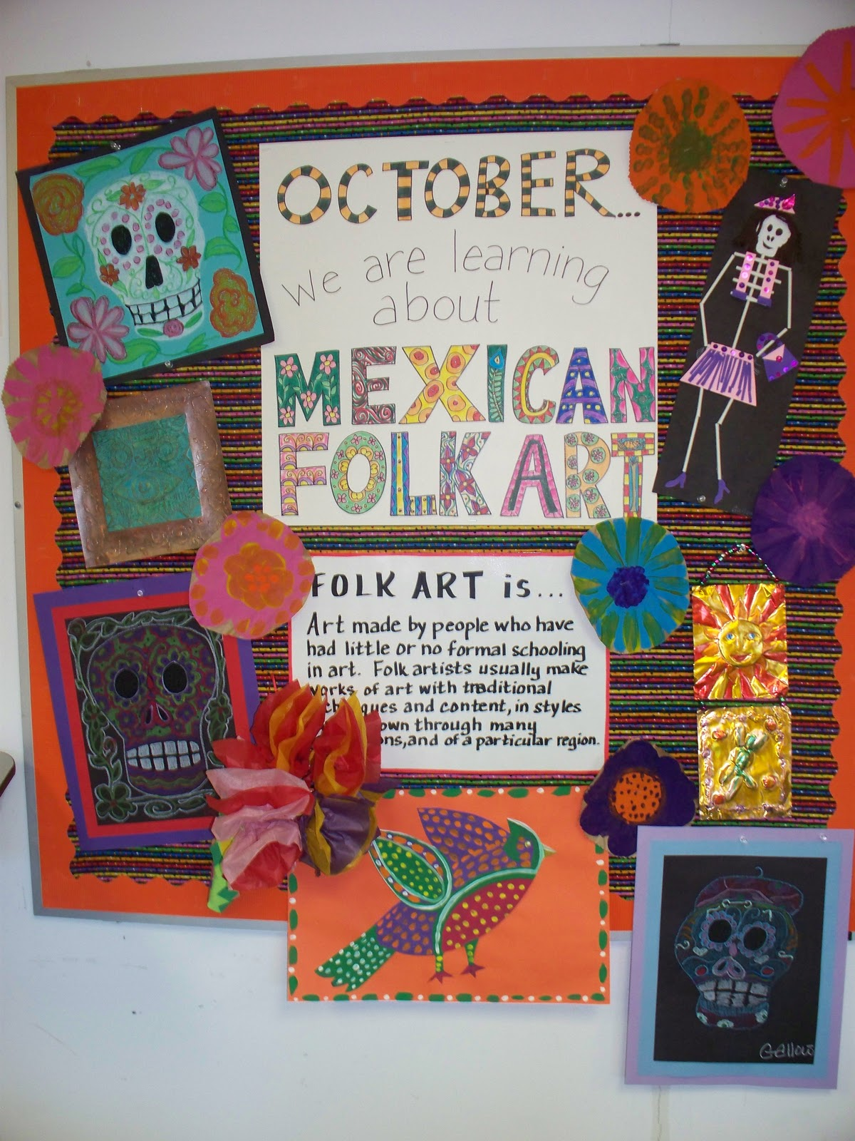 Creating art mexican folk art for Craft of the month
