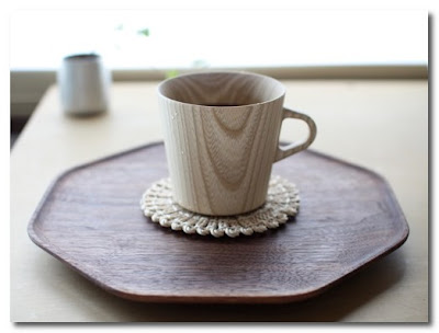 oji and design wooden cup