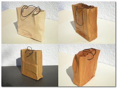 wooden shopping bags