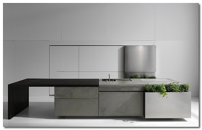 concrete kitchen by steininger