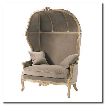 CARROSSE Armchair in Taupe Velvet maisons du monde