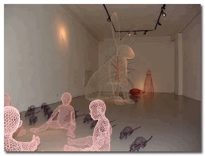 wire work by Benedetta Mori Ubaldini