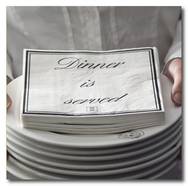 dinner is served napkins cape henley