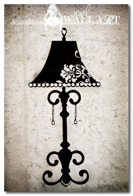 lamp wall art house of 3