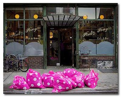 pink polkadot bin bags