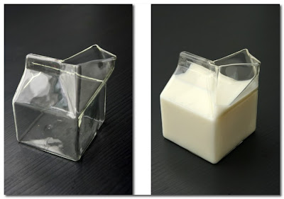 Glass Half Pint Milk Carton