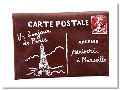 carte postale purse at couverture