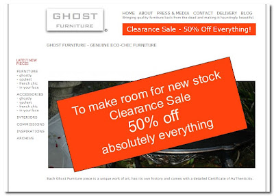 ghost furniture sale