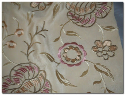 vintage embroidered silk paris