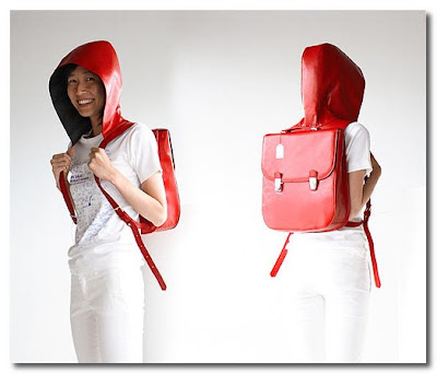 backpack with hood by company