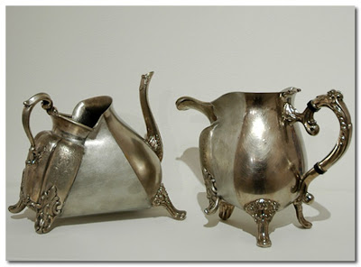 Crazy Teapot and Milk Jug by david clark