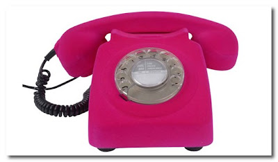 pink flocked phone