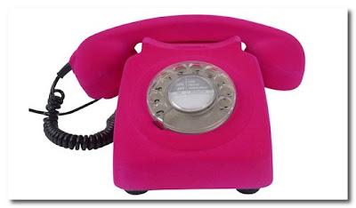 pink flocked phone