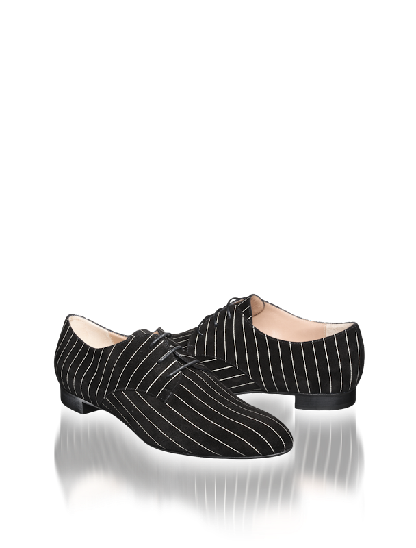 armani pinstripe velvet shoes