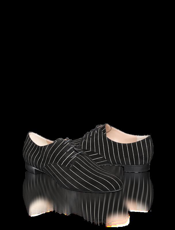 armani pinstripe velvet shoes