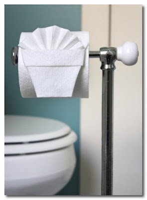 origami toilet roll
