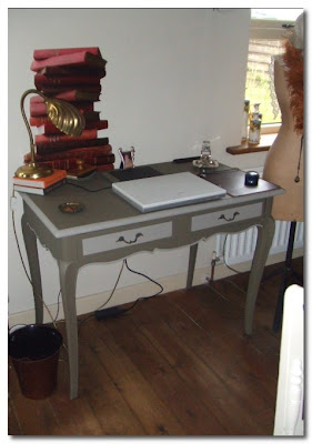 re-painted french desk