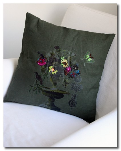 french embroidered cushion at rockett st george