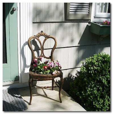 pretty planted chair