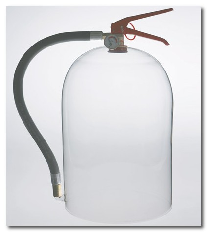 glass fire extinguisher
