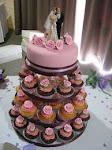 vanilla & chocolate wedding cupcakes