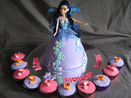 purple & blue doll cake
