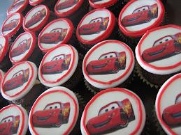 mcqueen cupcakes 17.12.09