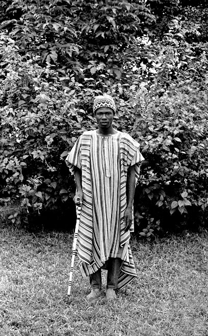 Patrick Garlough in native dress - Kenema