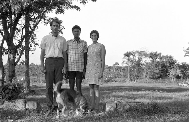 me, Patrick Garlough, Susan, and Wiggle - Kenema - 1968