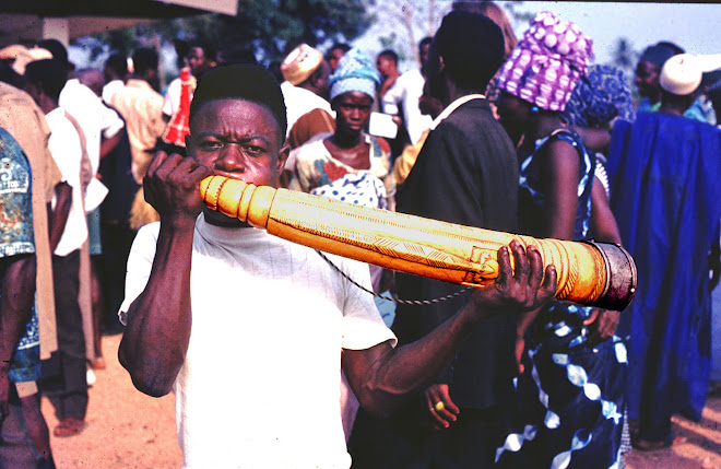 Paramount Chief's horn - at Panguma
