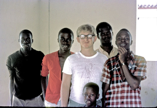 David Johnson Peace Corps volunteer with friends at Njala