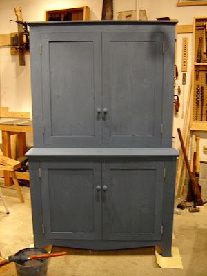 Blue/gray stained cabinets instead of paint? Am I crazy?
