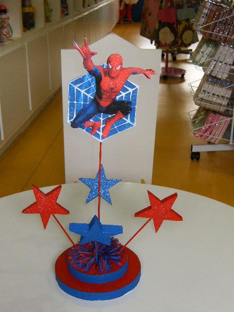 Eventos e Decorações 2010 11 07 -> Enfeites De Mesa Do Homem Aranha