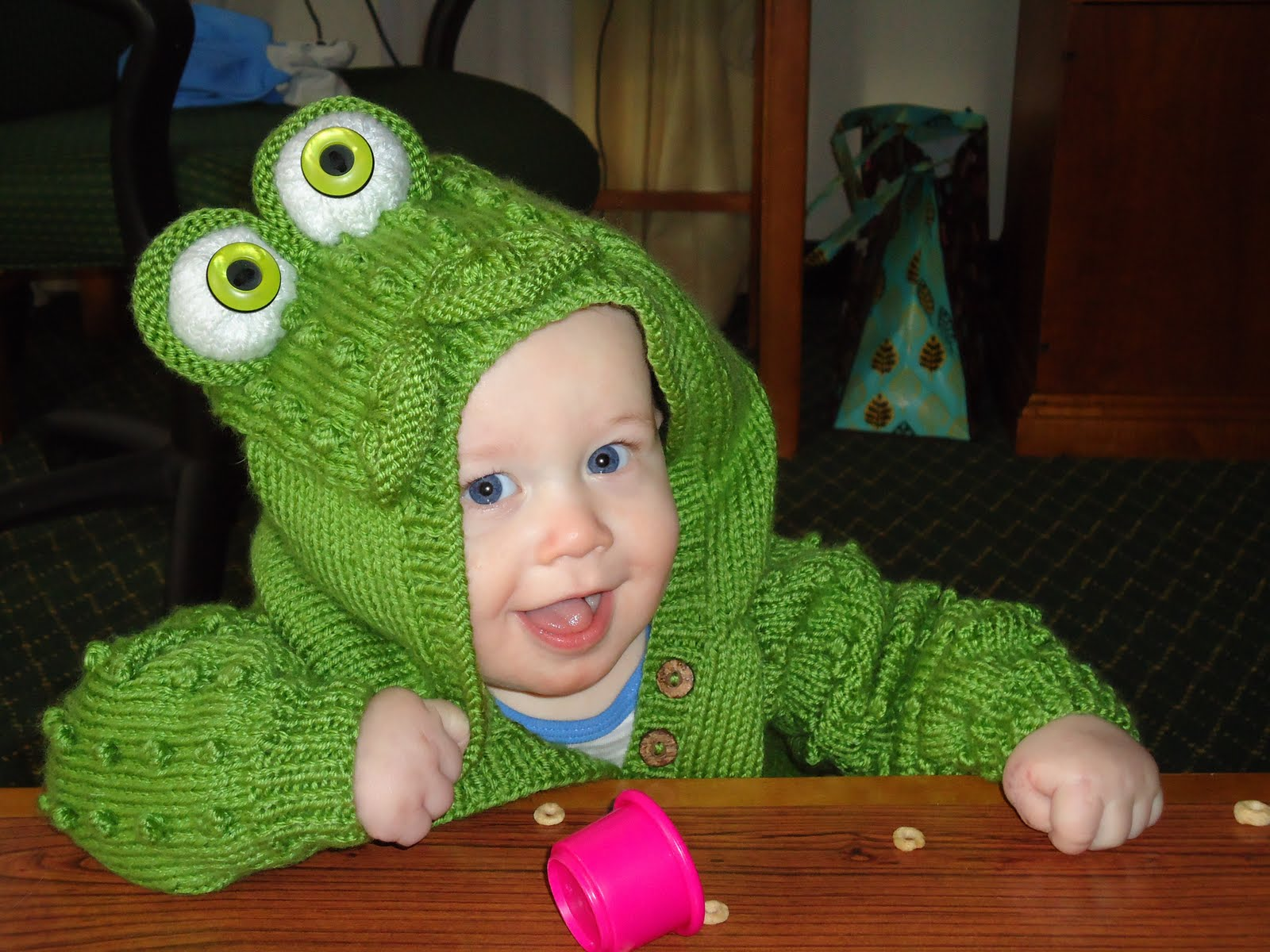 I knit him the cutest little frog costume. I personally thought it was genius. ) Plus none of the other kids had the same costume.  sc 1 st  Unicorns are people too... & Unicorns are people too...: The Frog Prince