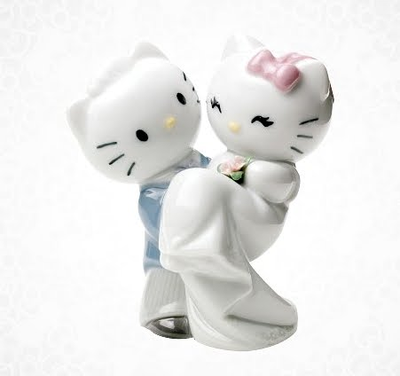 How about picking up this creepily cute Hello Kitty and Dear Daniel wedding
