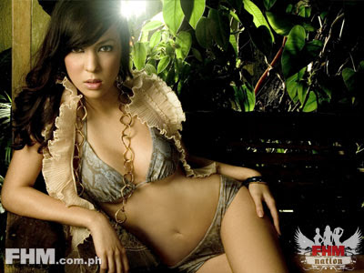 Karel Marquez in Beautiful Cover Model Photo Shoot Session for FHM Magazine Philippines on an Exclusive Edition of November 2006 Issue