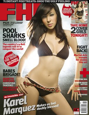 Karel Marquez in Beautiful Cover Model Photoshoot Session for FHM Magazine Philippines on an Exclusive Edition of November 2006 Issue