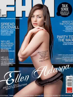 In some of the photos Ellen Adarna can be seen wasted