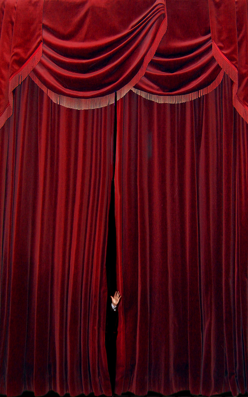 Fancy Living Room Curtains Red Velvet Leather