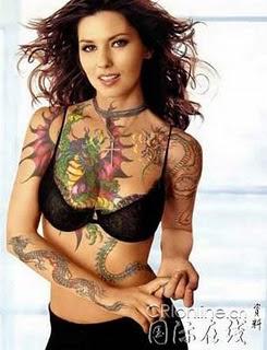 New Tattoo sexy girl beautyful