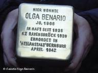 Foto da chamada Pedra-do-tropeço, em homenagem a Olga Benário Prestes
