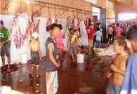 [Imagem] Foto de crianças trabalhando num matadouro