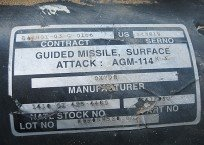 Etiqueta de míssil americano usado por Israel em Gaza