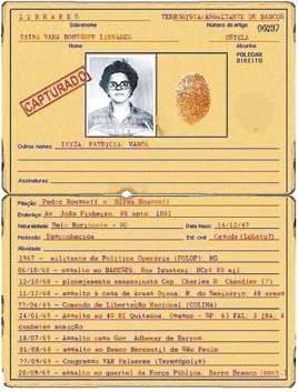 Ficha de Dilma reproduzida na Folha