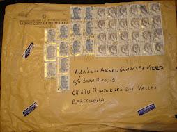 Sobre enviat per l'Archivio Centrale dello Stato (Roma)
